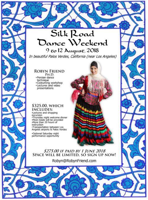 Silk Road 2018 Central Asian dance weekend -- flyer