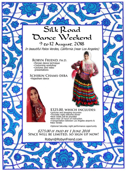 Silk Road 2018 Central Asian dance weekend -- flyer with Schirin