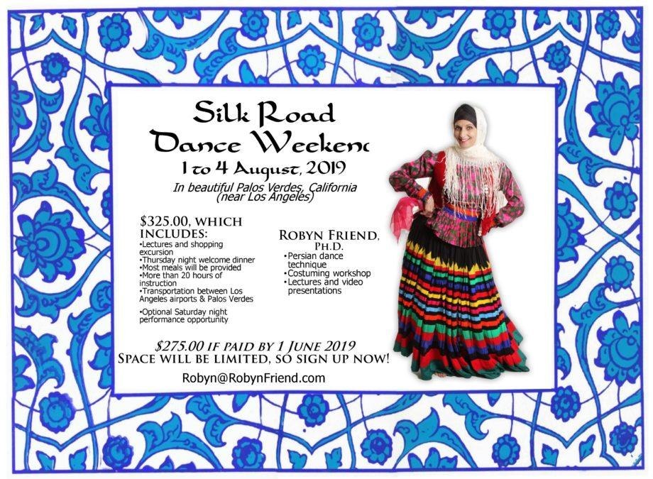 Silk Road 2019 Central Asian dance weekend -- flyer for Facebook